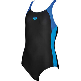 arena Ren One Piece Swimsuit Meisjes, black-pix blue-turquoise